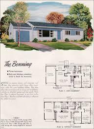 Mid Century Modern House Plan Mid Century Modern House Plans 1952 National Plan Service Houses