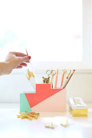 Yellow Desk Organizer 20 Diy Desk Organizer Tutorials Gurl Com