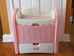 fisher price changing table vintage little tikes pink doll size crib changing table storage