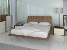 Glossy White Bedroom Furniture Furniture Cool Floating Bed Frame For Queen Size And Glossy White