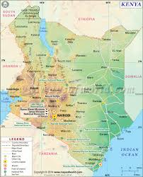 Map Of Africa With Capitals by Kenya Map Map Of Kenya
