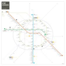 Guangzhou Metro Map by China