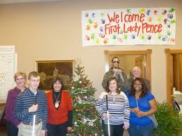 governor first lady receive christmas trees from the indiana