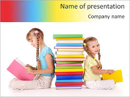 girls reading powerpoint template u0026 backgrounds id 0000005612
