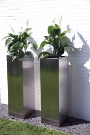 Modern Garden Planters Home Decor Contemporary Garden Planters Small Stainless Steel