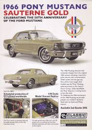 model cancelled 1 18 scale 1966 ford mustang in sauterne gold