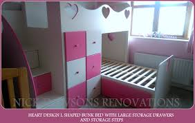 Heart Shaped Bed Frame by Childrens Storage Beds Bespoke Childrens Beds