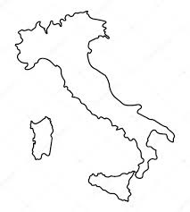 black abstract outline of italy map u2014 stock vector chrupka 66526411