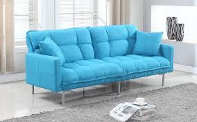modern plush tufted linen fabric splitback living room sleeper