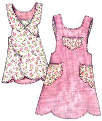 Apron Designs And Kitchen Apron Styles Apron Smock And Pinafore Sewing Patterns