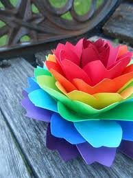 Wedding Gift Decoration Single Rainbow Dahlia Roygbiv Cake Topper Wedding Gift