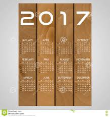 2017 wooden boards wall calendar with white eps10 stock vector