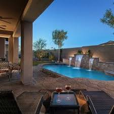 Arizona Backyard Landscaping Ideas Stunning Backyard Landscaping With Pool Water Fall And Heated Spa