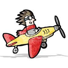 imagenes animadas de aviones piloto de dibujos animados en avión stock vector freeimages com