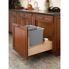 under counter trash can revashelf 27quart plastic pull out small