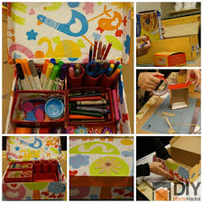 turn old shoe box into a stationary organizer check it out
