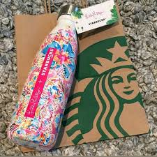 swell starbucks lilly pulitzer lilly pulitzer nwt starbucks lilly pulitzer s well floral from
