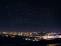 Blue Flag With Stars Lady Gaga U0027s Super Bowl Li Halftime Show Drones Have A Bright
