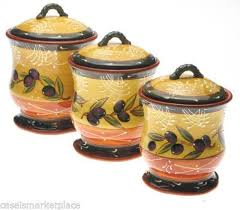colorful kitchen canisters tuscan kitchen canisters ebay
