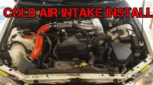 lexus is300 texas cold air intake install lexus is300 youtube