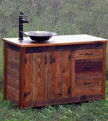 Unfinished Bathroom Vanities Reclaimed Wood Bathroom Cabinets