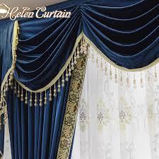 royal blue bedroom curtains helen curtain set luxury velvet royalblue curtains for living room
