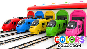 colors for children to learn with toy trains colors videos