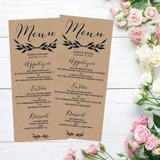 as 25 melhores ideias de wedding menu template no pinterest mesa