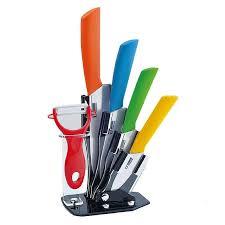 ceramic kitchen knives set ceramic knife set with holder 6pcs shoppy