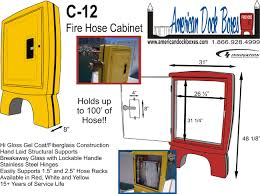 american fire hose cabinet american dock boxes c12 fire hose cabinet