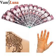 12x natural henna tattoo ink india mehendi ink for body art