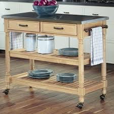 Kitchen Table With Stainless Steel Top - three posts fitzhugh kitchen cart with stainless steel top
