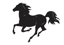 Black Mustang Horse Mustang Horses Clip Art Vector Images U0026 Illustrations Istock
