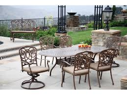 Darlee Patio by Darlee Outdoor Living Series 60 Cast Aluminum 84 X 42 Oval Dining