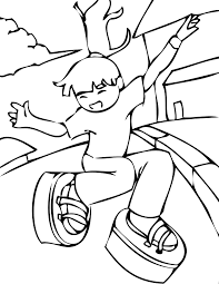 moon shoes coloring page handipoints