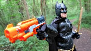 batman batman battles mecha joker with laser nerf dctc superheroes in