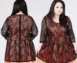 model baju ッ 20 model baju batik wanita gemuk modis untuk kerja terbaru