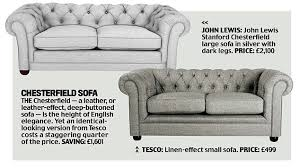 John Lewis Leather Sofas How To Get A John Lewis House At Tesco Prices Daily Mail Online
