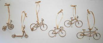 daryl s rock and wire works bike ornaments