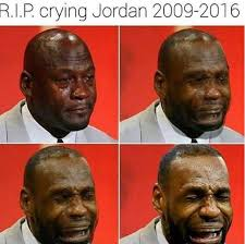 Lebron James Crying Meme - lebron james will replace michael jordan in one category the