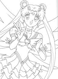 eternal sailor moon coloring page sailormoon sailor moon