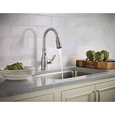 Moen Stainless Steel Kitchen Faucet by Moen 7185esrs Brantford Spot Resist Stainless Pullout Spray