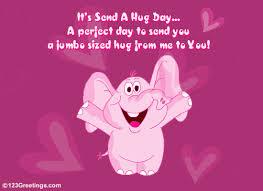 jumbo s day cards a jumbo sized hug free warm hugs ecards greeting cards 123