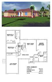 cool house plan id chp 53014 total living area 1253 sq ft 3