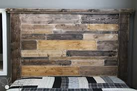 How To Make A Platform Bed With Wood Pallets by Diy Planked Headboard Shanty 2 Chic