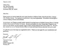 sincere thanks from the military order of the purple heart u2013 rick