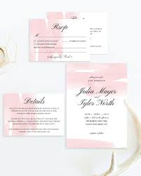 create a romantic wedding with these blush watercolor wedding