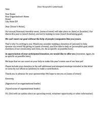 fundraising cover letter sample docoments ojazlink