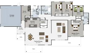 Triple Wide Mobile Homes Floor Plans by Simple 5 Bedroom Home Plans