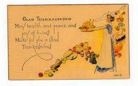 vintage thanksgiving postcards old postcard glad thanksgiving poem woman turkey harvest